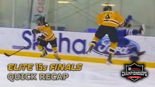 E15 Finals - Quick Version HD -  NAX vs BWC- 2019 BDO CSSHL Championships - Stand Out Sports