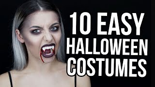 10 EASY LAST MINUTE HALLOWEEN MAKEUP / COSTUME IDEAS