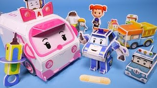 Poli car Paper toy & Robocar Poli Bowling game toys