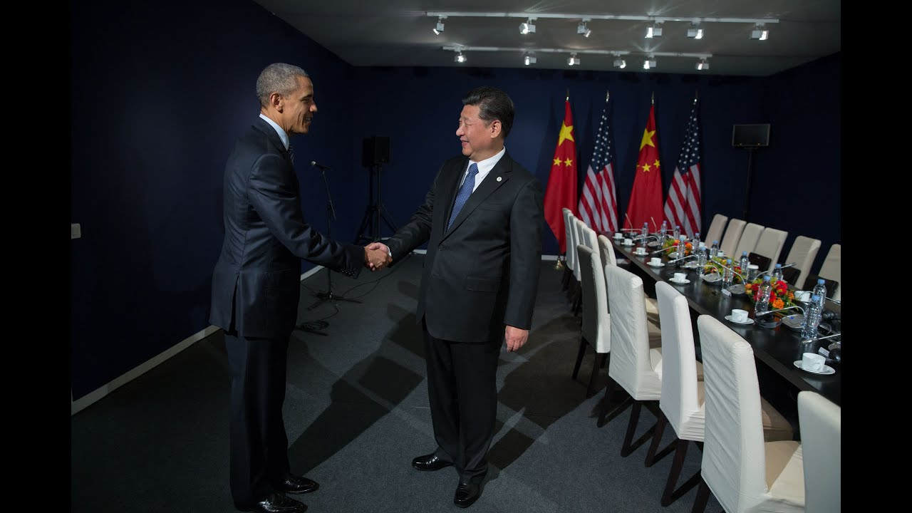 The President Holds a Bilateral Meeting with the President of China in Paris
