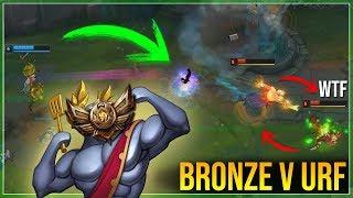 ¿Como juegan los Bronces V en ULTRA RAPID FIRE? ¡LEYENDAS DEL BRONZE EN URF! | League of Legends