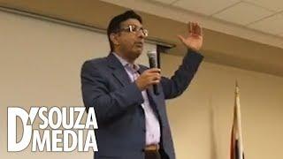 Leftist student instantly regrets calling D'Souza a liar