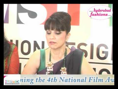 Hamstech congratulates Ms.Neeta Lulla on winning 4th National Film Award 2012 Video 2