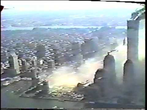 WTC Attack September 11, 2001 from New York Police Helicopter