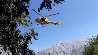 Rescate de un esculta en helicóptero durante el raid 2016