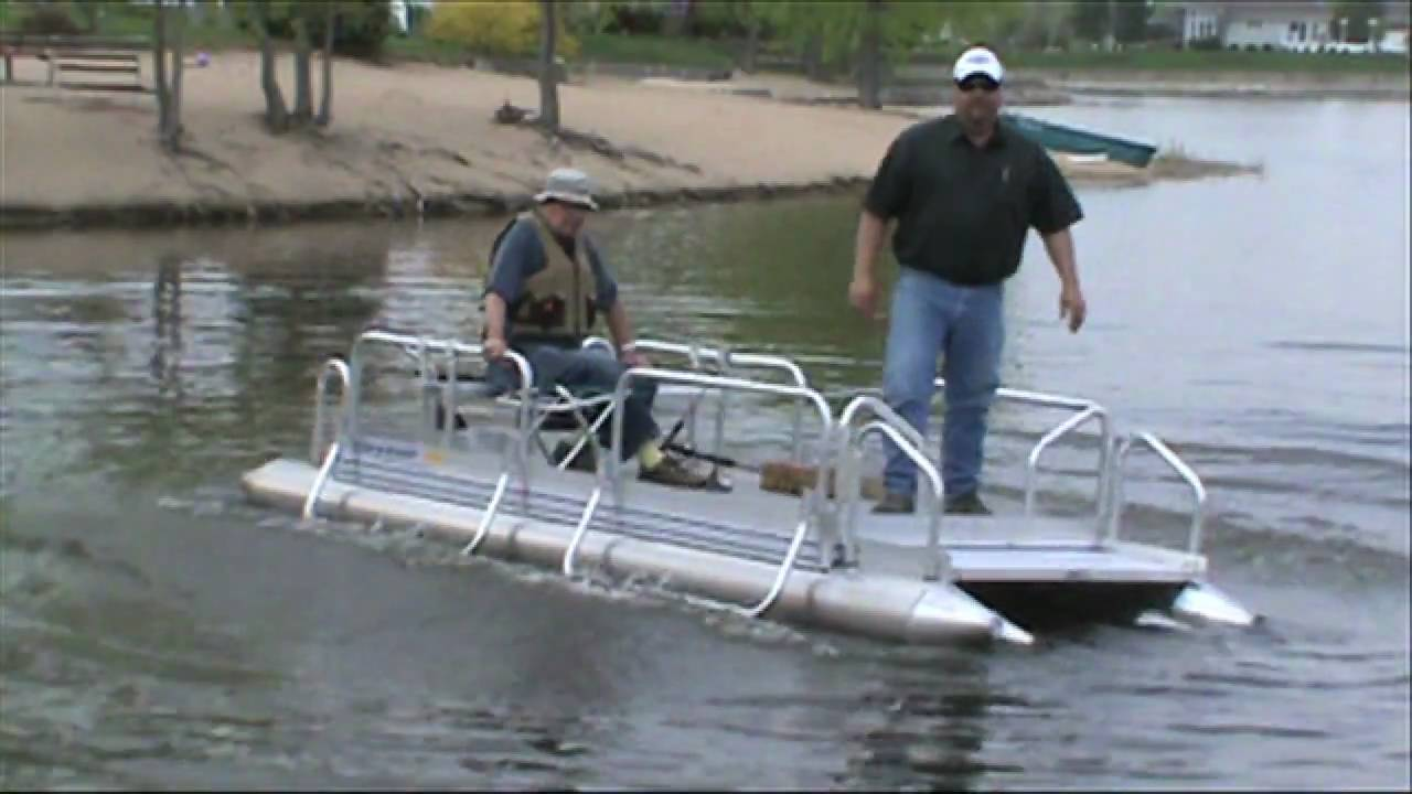 Hotwoods Fish N Sport 510 Pontoon Boat Youtube