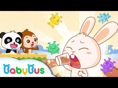 아프면 약을 먹어요|키킼묘묘생활동화|베이비버스 인기동화|BabyBus