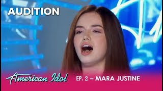 Download Lagu Mara Justine: This Young Girl Has GOT TALENT! | American Idol 2018 Gratis STAFABAND
