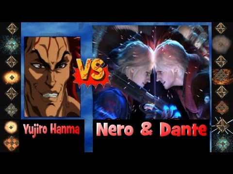 Yujiro Hanma vs Dante and Nero Ultimate M.U.G.E.N.  Fight 2013 Hi Res HD