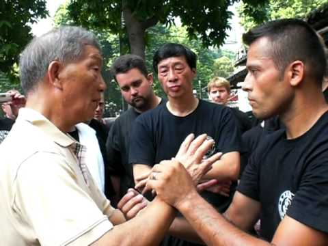 Grand Master Ip Ching Seminar at Ip Man Tong Foshan. w/Grand Master Samuel Kwok 2009.
