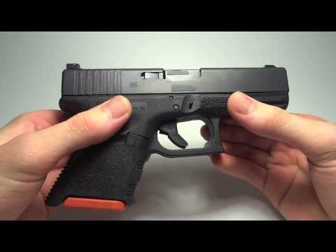 Glock 19 modified to use Glock 26 magazines — [w/ Surefire x400]