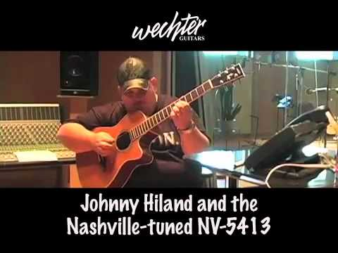 Johnny Hiland on the Wechter Nashville-tuned guitar