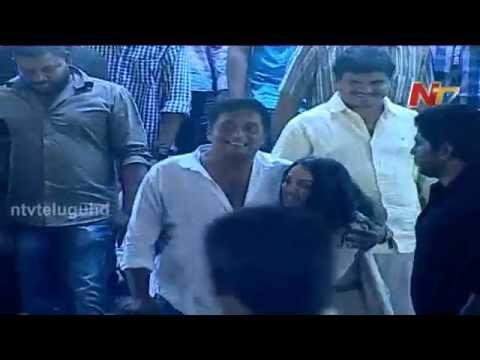 Nithya Menon Jumped and Hug Prakash Raj at Ok Bangaram Telugu Movie Audio Success Meet