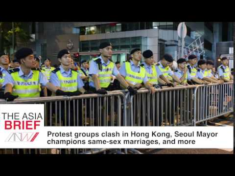 TAB: Protesters clash in Hong Kong, Seoul Mayor champions same-sex marriages, and more