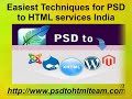 PSD to Html services india