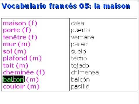Franc S Vocabulario 05 La Maison Youtube