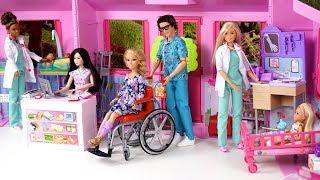 Barbie Doctor Doll Childrens Hospital Toy with Bedroom & Nurse Station