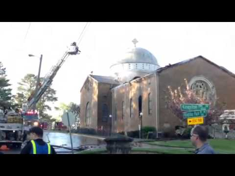 Fire at Saint George Greek Orthodox Church in West Knoxville
