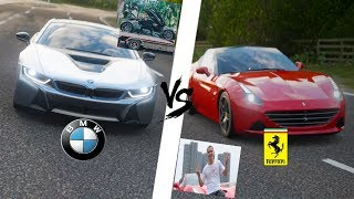 Forza Horizon 4 - BMW I8 Atta Halilintar VS Ferrari California JessNoLimit Part 1