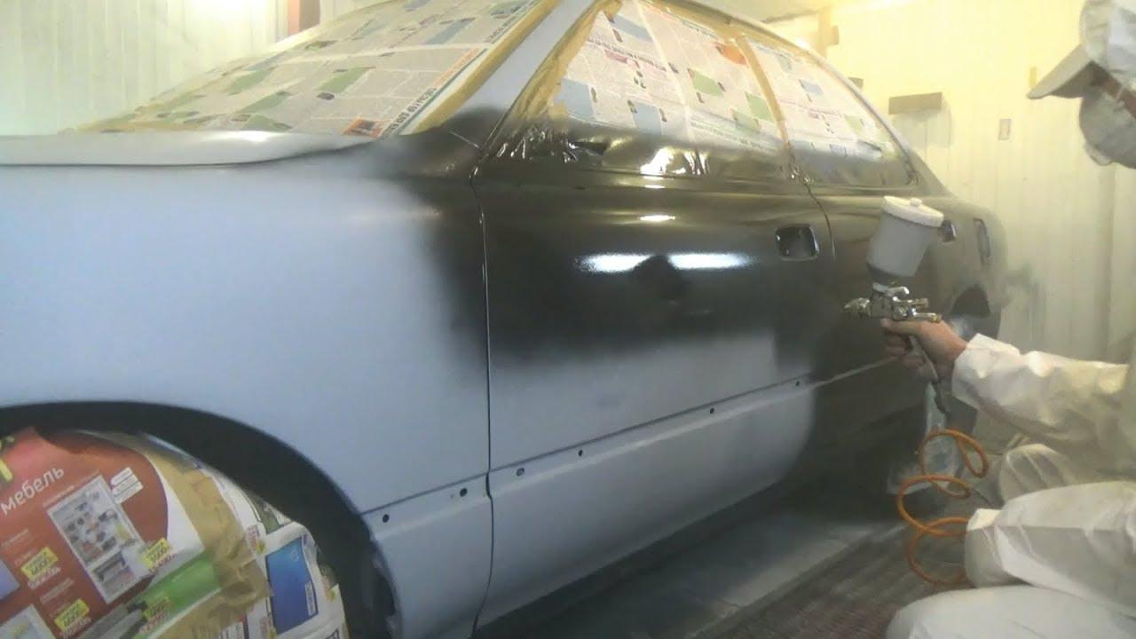 Покраска авто металликом своими руками в гараже 16