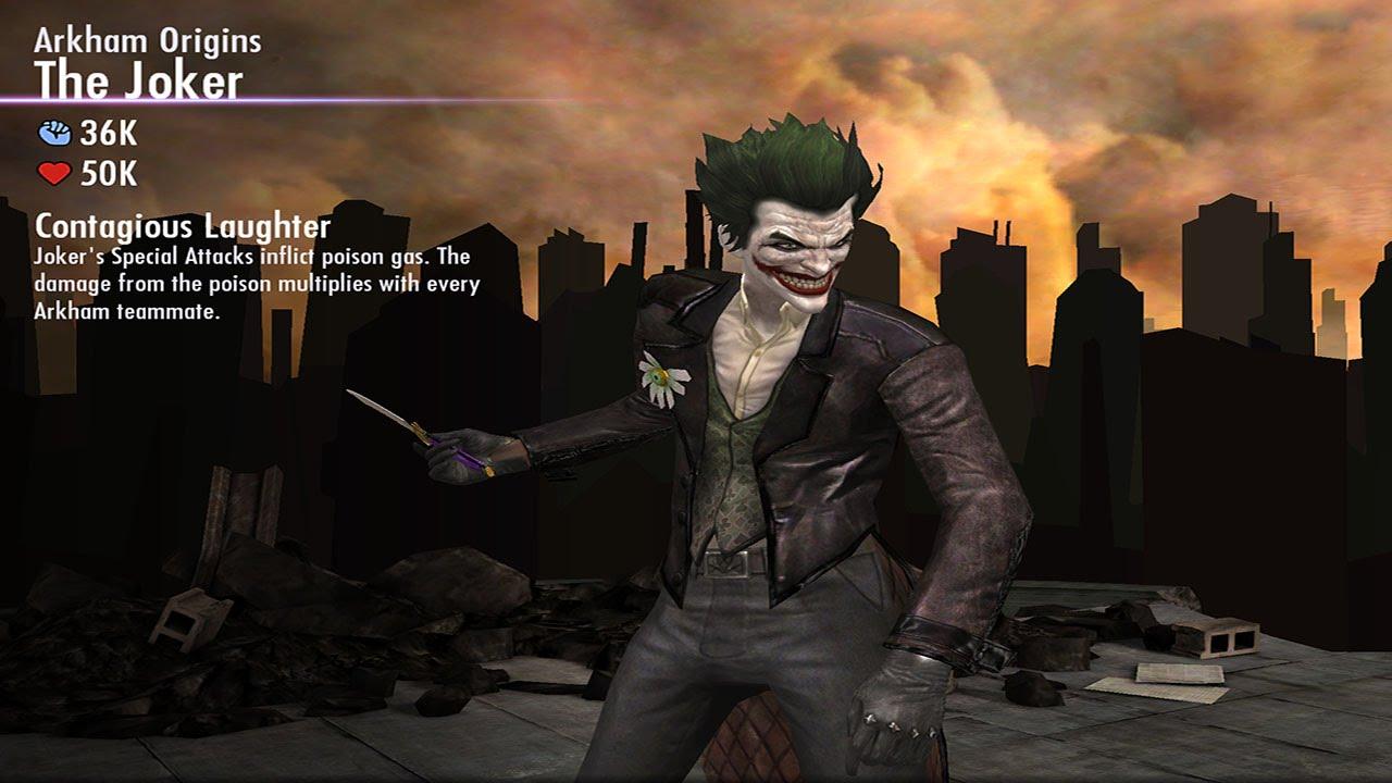 Arkham Joker Laugh Arkham Origins The Joker