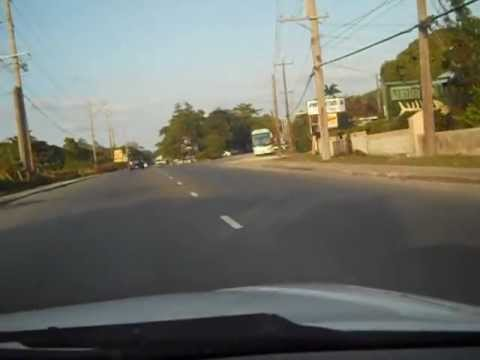 DRIVING IN MONTEGO BAY JAMAICA (MARCH 10TH 2013) ITSREDZZ