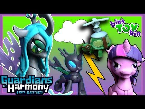Princess Twilight Sparkle Vs. Queen Chrysalis!!   My Little Pony Guardians Figures!   Bin's Toy Bin