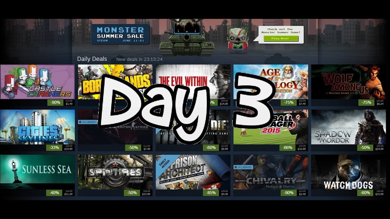 Summer Sale Steam 2015 cs go Steam Summer Sale 2015 Day 3