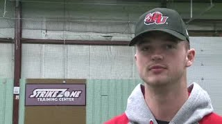 Drew Buffenbarger full interview on signing with Davenport baseball on 11/14/18