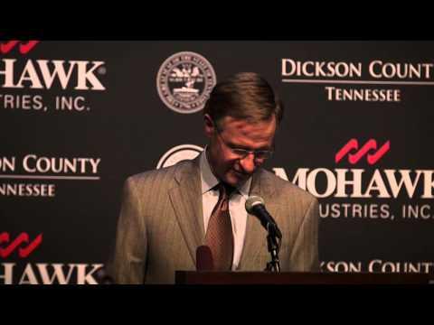 Gov. Bill Haslam : Mohawk Industries in Dickson
