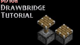 How To Make A Piston Drawbridge In Minecraft HD