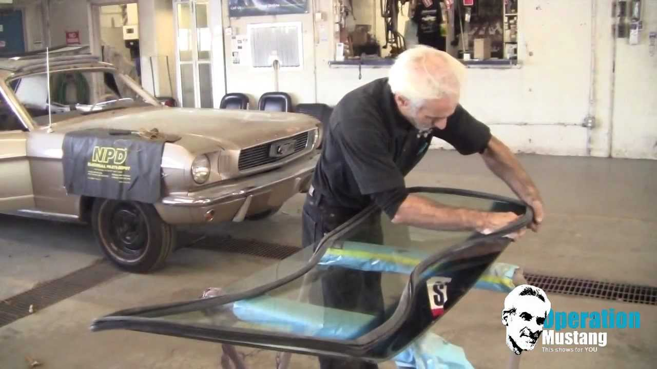 Operation Mustang windshield install made easy - YouTube
