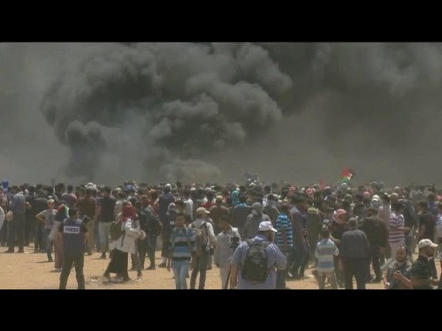 At least 60 Palestinians killed in Gaza border protests
