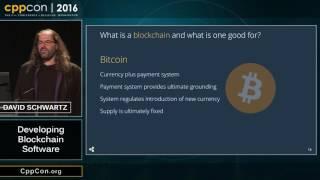 """CppCon 2016: David Schwartz """"Developing Blockchain Software"""""""