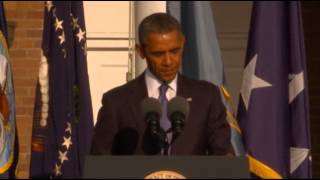 Pres. Obama Memorializes Navy Yard Victims  9/23/13