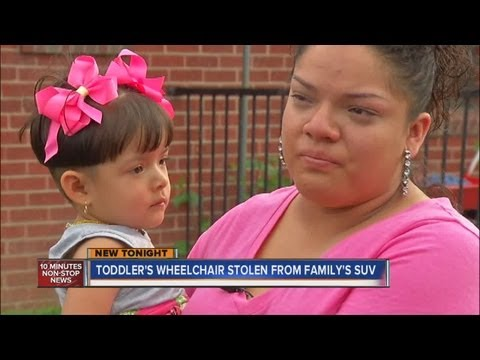 Toddler's wheelchair stolen from SUV in Denver