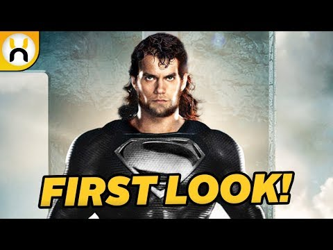 Superman's Black Suit FIRST LOOK for Justice League