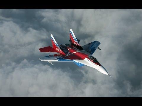 Истребитель МиГ-35. Взлёт.Воздух.Посадка.