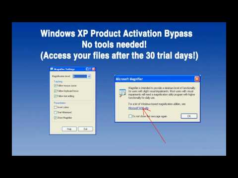[2013] Bypass Windows XP Product Activation, no tools!