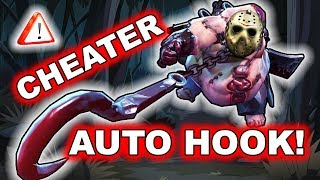 Dota 2 Suspected Cheater - Pudge using AUTO HOOK + Dismember!