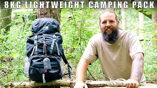 Lightweight Wild Camping Pack LoadOut