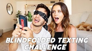 BLINDFOLDED TEXTING Challenge!!