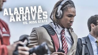 Check out the scene as Alabama arrived to take on Miss. State