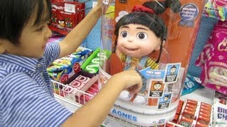 Talking AGNES (Doll) of Despicable ME 2 + DORA the Explorer Doll