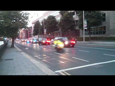 Joe Biden cavalcade hits Dublin city centre.