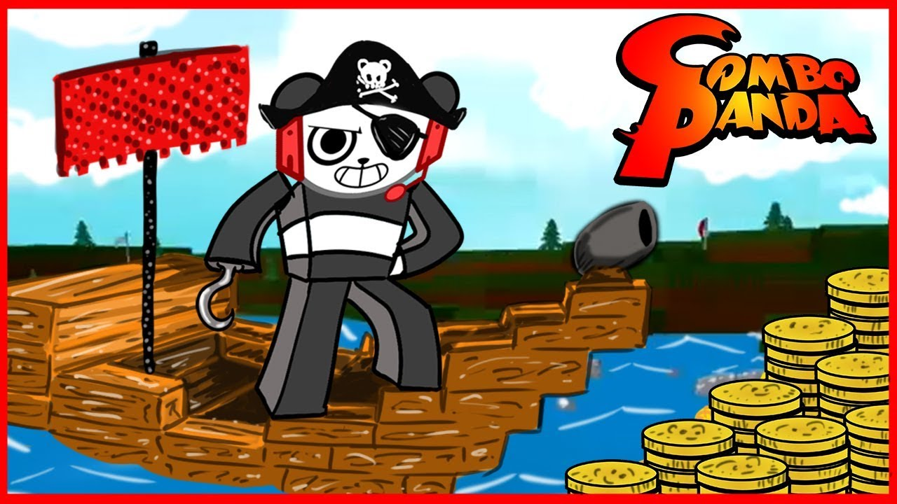 Captain Combo on Pirate Ship! ROBLOX Build a Boat for Treasure Let's Play with Combo Panda