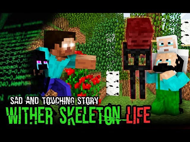 Monster School : Enderman's Life Part 2 with Wither Skeleton's Life - Minecraft Animation