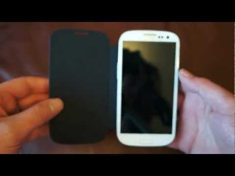 Samsung Galaxy S3 Case Review - Genuine Samsung Flip Case - Metallic Blue - EFC-1G6FBECSTD