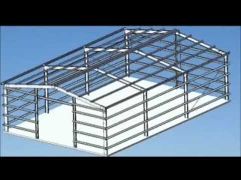 How To Make A Portal Frame Shed Or Garage Youtube