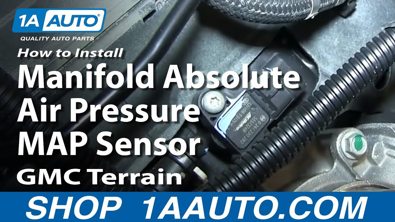 How To Install Replace Manifold Absolute Air Pressure Map Sensor Gmc Terrain Youtube